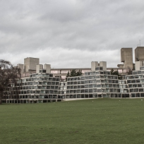 Ziggurats with teaching block behind